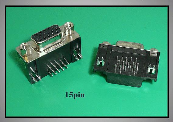 D-SUB 15p. aljzat 3 sorban PCB 90° CS-DS015S/3/N90