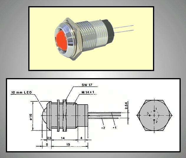 LED foglalat 10mm, krómozott RTM-1090