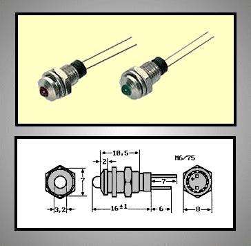 LED foglalat 3mm, krómozott RTM-3010C