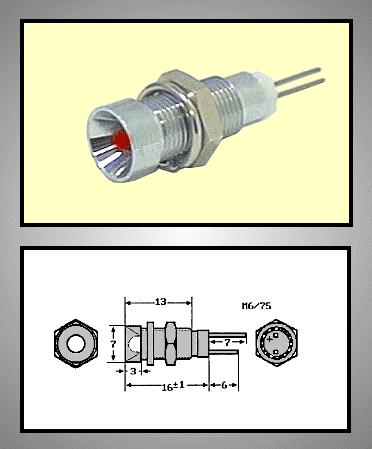 LED foglalat 3mm, krómozott RTM-3020