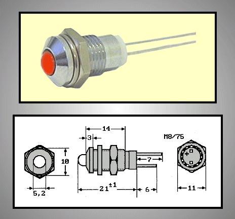 LED foglalat 5mm, krómozott RTM-5010