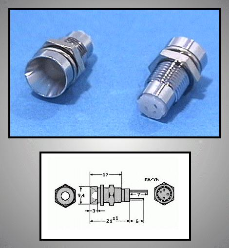 LED foglalat 5mm, nikkelezett RTM-5020