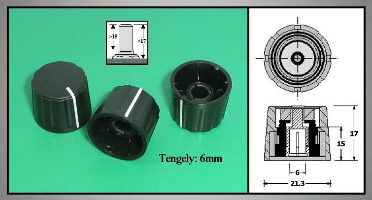 Potméter gomb 17x21.5mm POT-KNOB01/21B