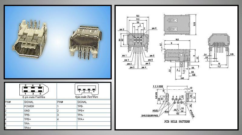 IEEE1394 Dig.Vid. 6p aljzat CSAT-IEEE6