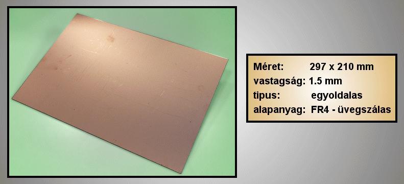 Egyoldalas nyák 210x297x1.5mm PPE210X297/1.5