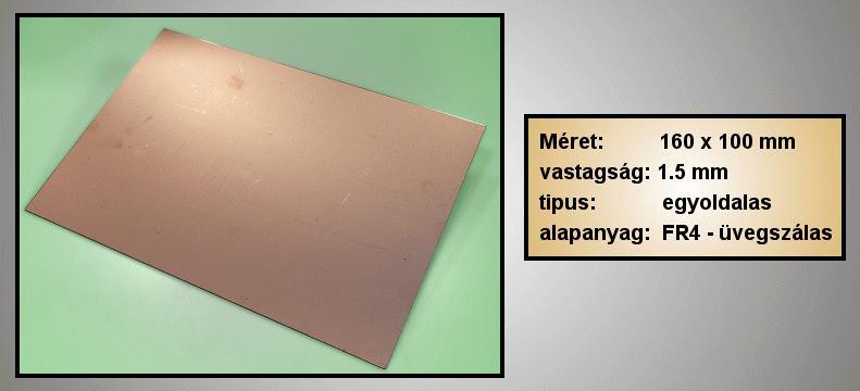 Egyoldalas nyák 100x160x1.5mm PPE100X160/1.5