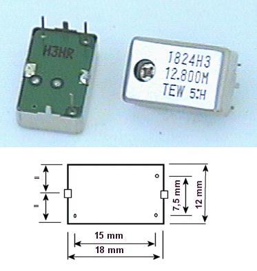 OSCILATOR BLOCK 12.800 MHz 20K 12.800 OSC