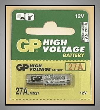 12V MN27 GP 27A-C5 Alkáli elem BAT MN27 GP