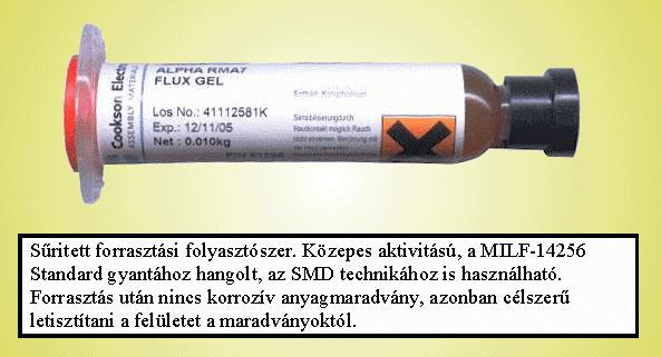 Forrasztó ón folyasztó gél 10cm3 ALPHA RMA7 PPE-FLUX/GEL