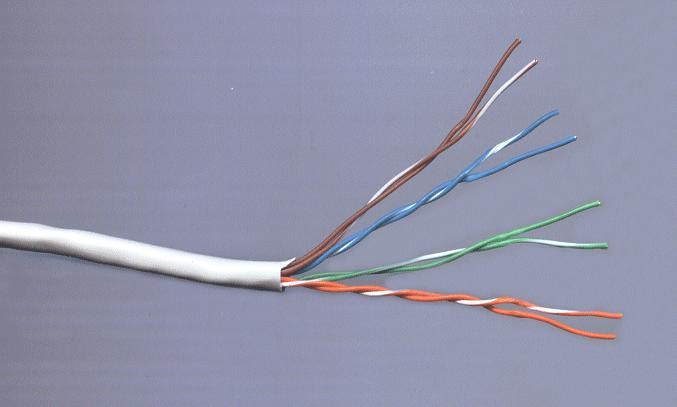 UTP PVC fali kábel 0.205mm2 Cat5E (CU) CABLE UTP Kat5