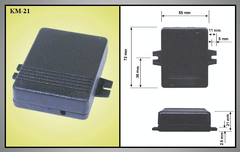 UNIVERSAL BOX 72x55x21mm BOX KM21