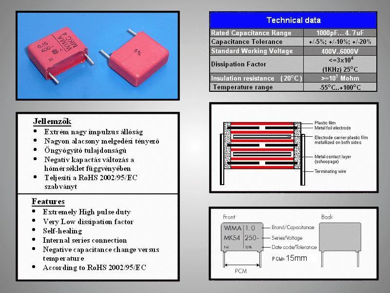 Kondenzátor 33nF 630V 10% Polipropilén RM-10 C 33N 630/MKP3