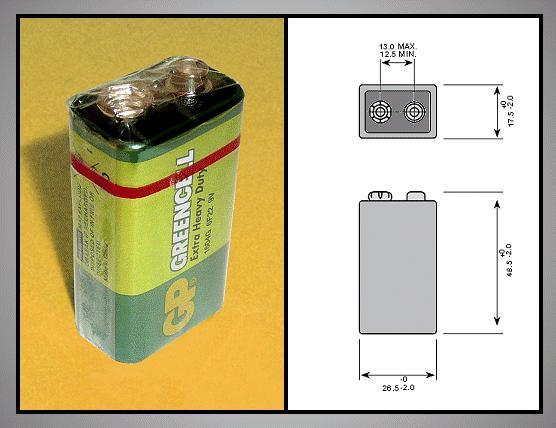 9V 6F22 GP Cink-klorid féltartós elem BAT 6F22 GP.S