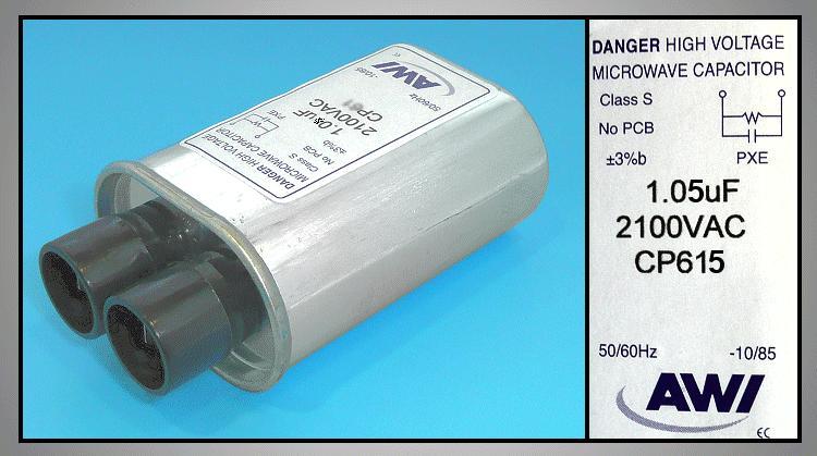 H.V. kondenzátor 1.05uF 2100VAC MW-C1.05