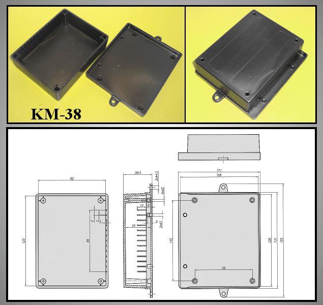 UNIVERSAL BOX 122x95x39mm BOX KM38