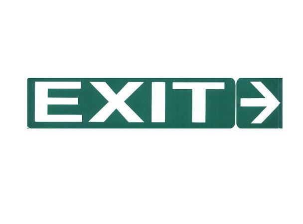 Vészvil. felirat-EXIT jobbra V-60958