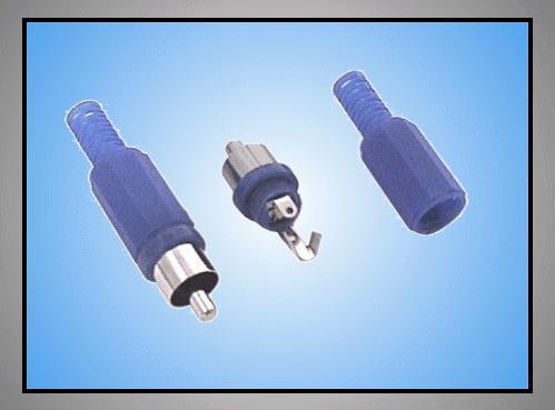 RCA dugó - kék törésgátlós CSAT-C006/BL