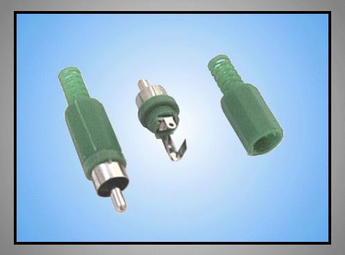 RCA dugó - zöld törésgátlós CSAT-C006/G
