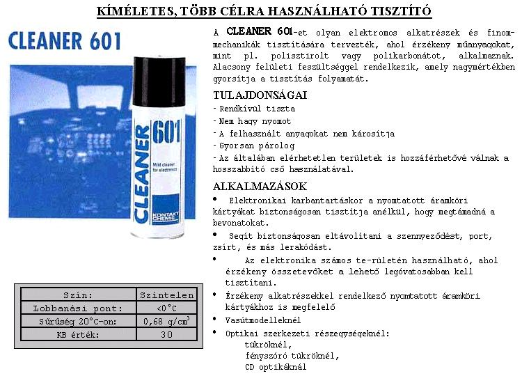 SPRAY: CLEANER 601 200ml 601/200