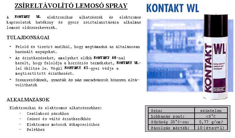 SPRAY: KONTAKT WL 200ml WL/200