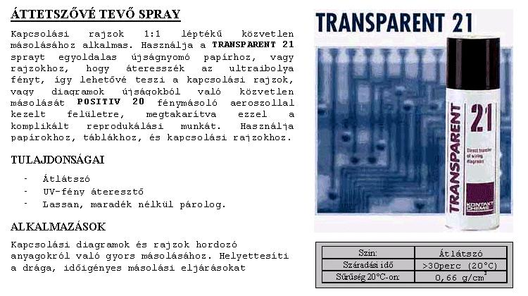 SPRAY: TRANSPARENT 21 200ml 21/200