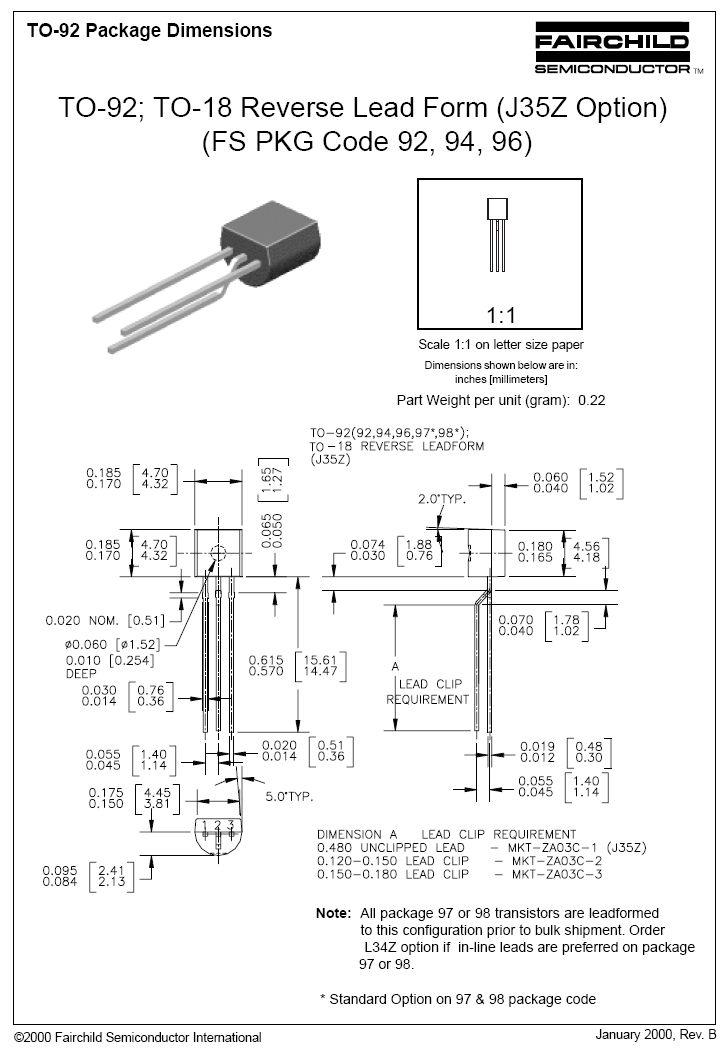 N-FET 30V Ig:10mA 0.3W Idss:6..15mA Up>8V BF245B -