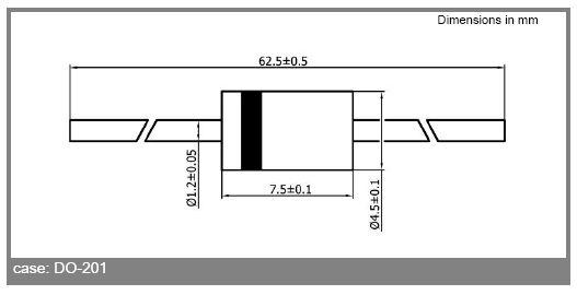 Dióda, SCHOTTKY 60V 5A/250Ap Vf:0.67V SB560 SB560 -
