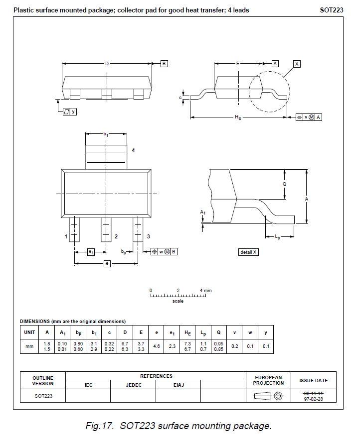 TRIAC 600V 1A Igt/Ih<5/7mA SOT223 Z0103MN -