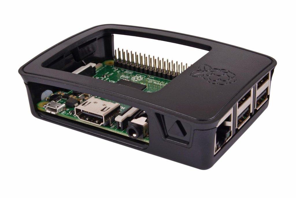 Raspberry Pi 3 B számítógép ház fekete Case Raspberry Pi 3 B -