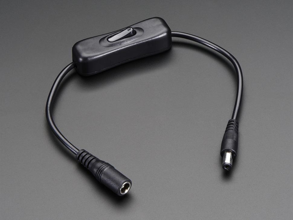 Kapcsolós DC táp kábel toldó 5.5x2.1mm DEV DC EXTENSION SW