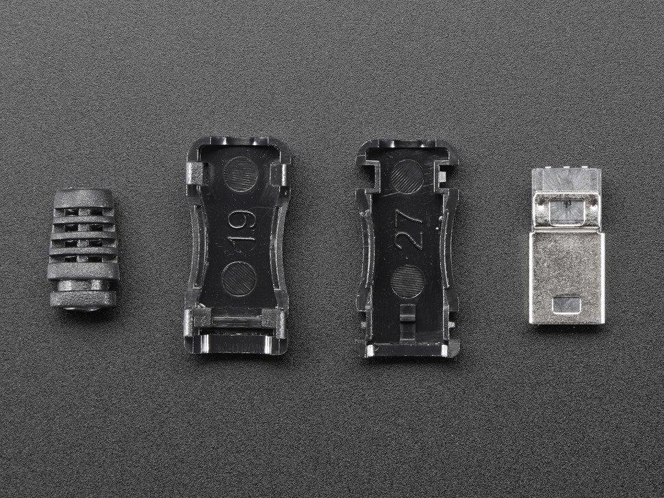 Lengő forrasztható MiniUSB-B dugó fekete házzal CSAT-USB-MINI PLUG -