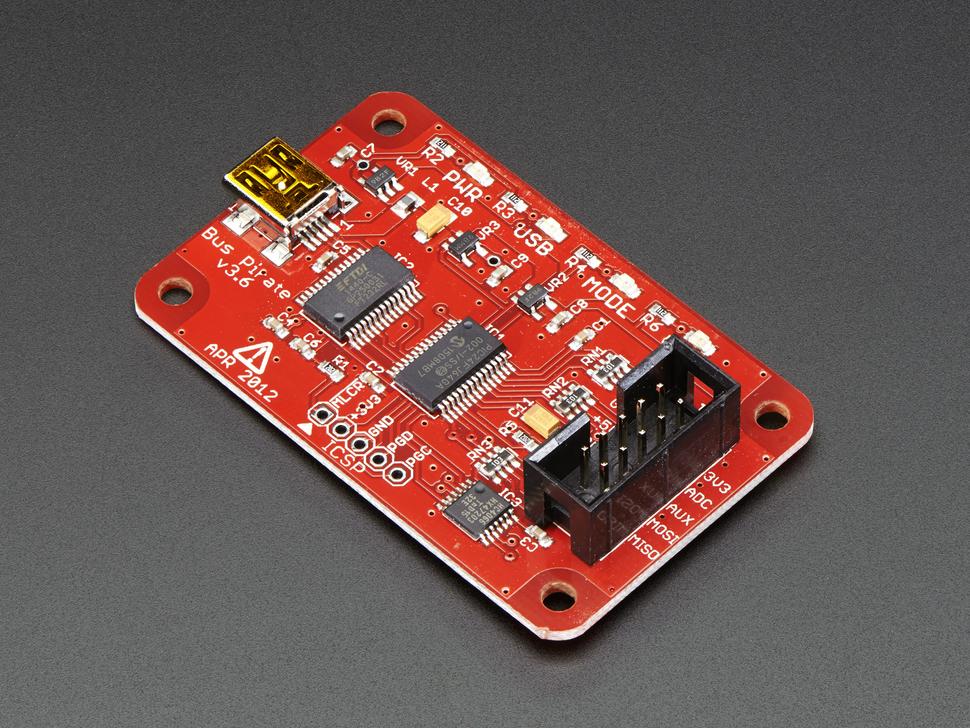 Bus Pirate Fejlesztő eszköz és multi protokol interface KIT Bus Pirate