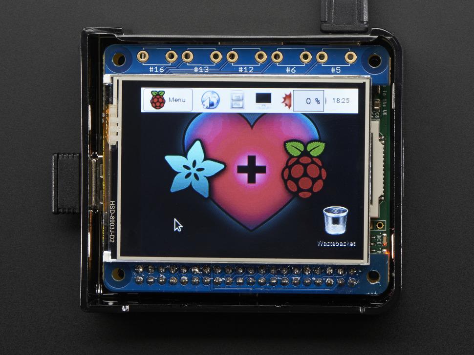 Raspberry Pi 3 kijelző modul Phat Display