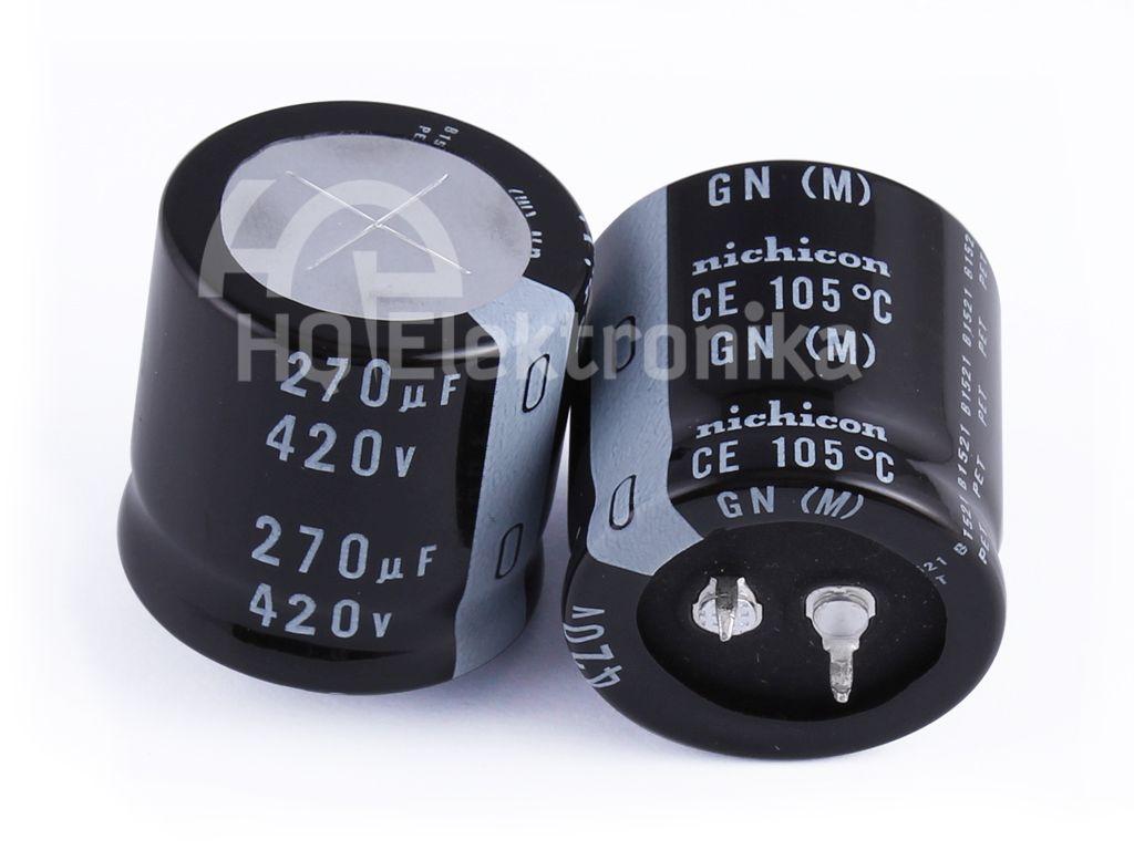 ELKO 270uF 420V 105°C 30x30 2p. Snap-In 270/420P-105 30X30