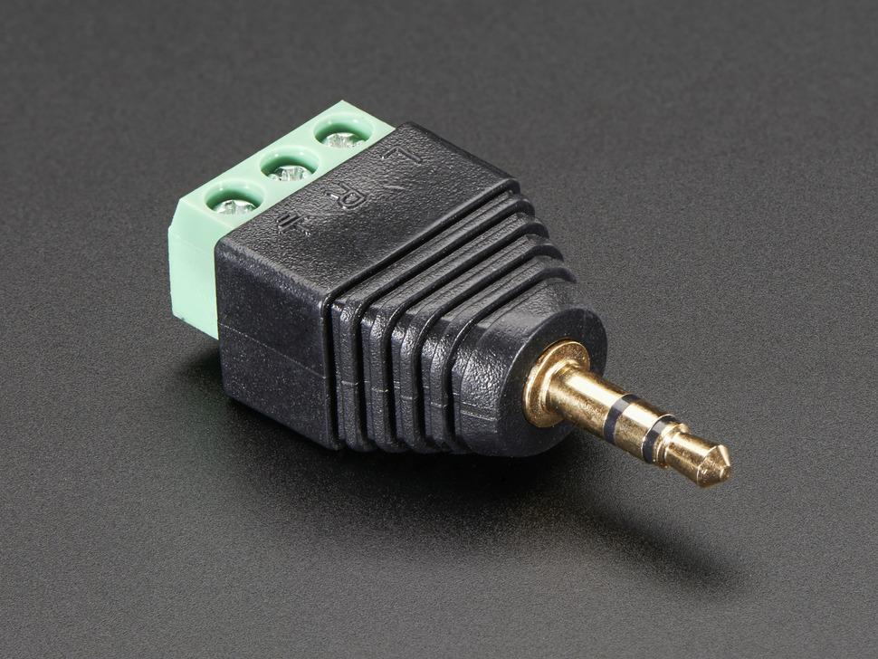 Jack 3.5mm sztereó dugó, aranyozott, sorkapcsos JC-035