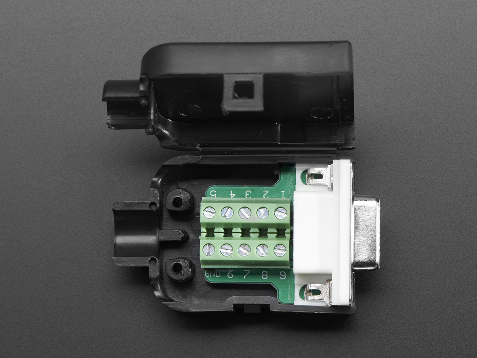 D-SUB 9p. anya házzal sorkapcsos CS-DS009T/F