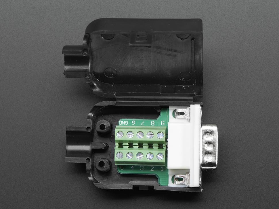 D-SUB 9p. apa házzal sorkapcsos CS-DS009T/M