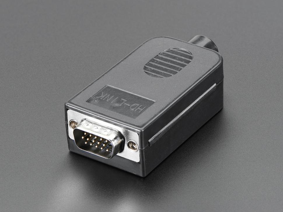 D-SUB 15p. dugó 3 sorban, házzal sorkapcsos CS-DS015T/M -