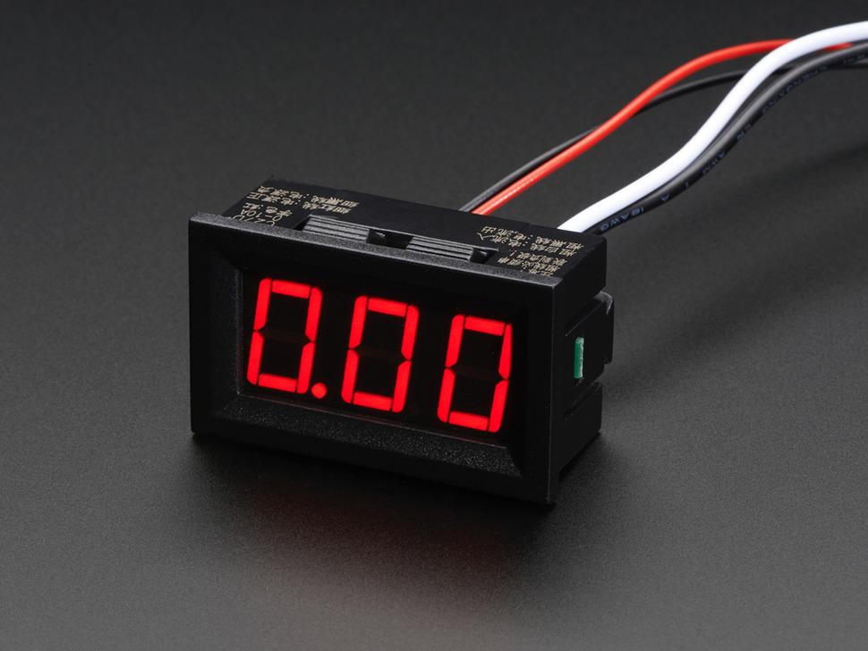 3 digites LCD panelműszer Ampermérő 0-9.99A méréstartományhoz LCD PM AMPER 0-9.99A