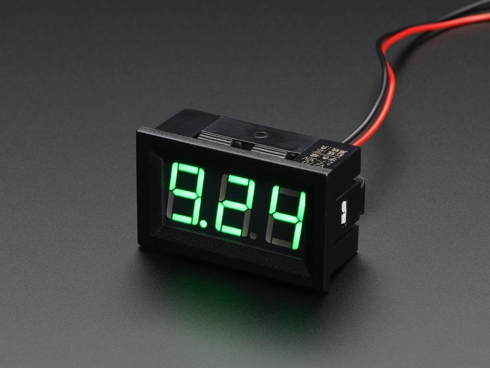 3 digites LCD panelműszer Voltmérő 4.5-30V méréstartományhoz LCD PM VOLT 4.5-30V