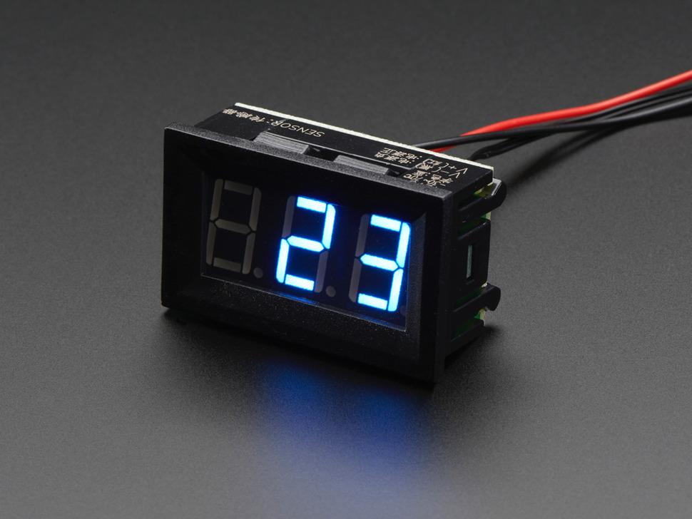 3 digites LCD panelműszer Hőmérő -30...+70 fok C méréstartományhoz LCD PM TEMP -30to+70C