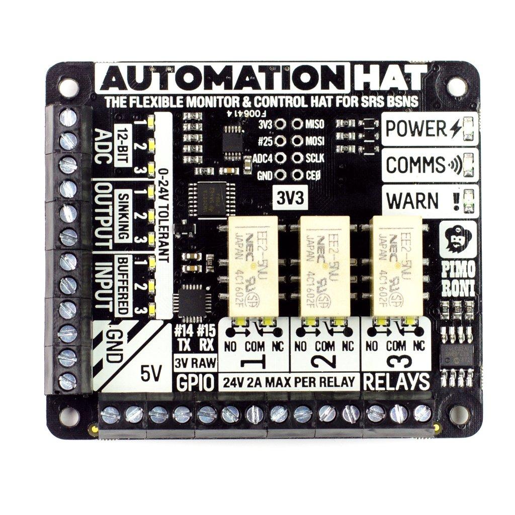 Raspberry Pi automatizálási fejlesztő eszköz KIT Automation Hat