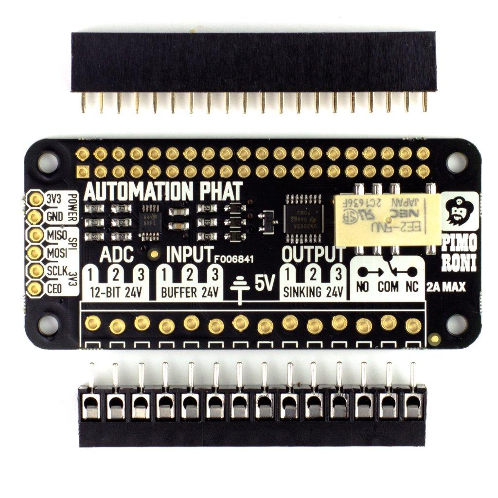 Raspberry Pi Automatizálási fejlesztő kiegészítő eszköz KIT Automation pHat -