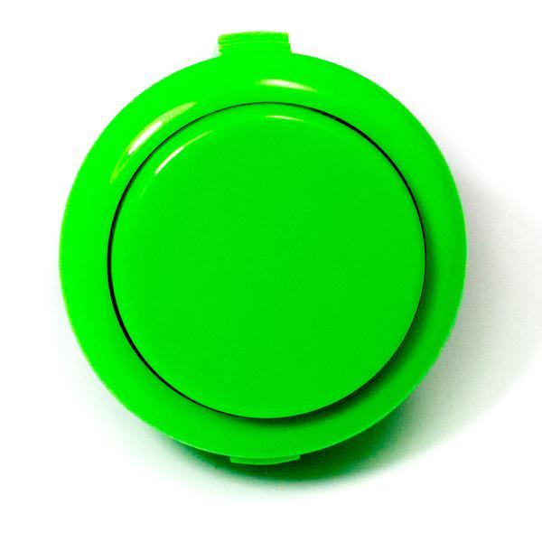 Színes kerek záró nyomógomb 33x20x2mm zöld SW PUSH ARCADE Green