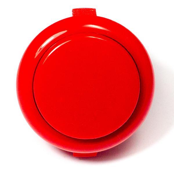 Színes kerek záró nyomógomb 33x20x2mm piros SW PUSH ARCADE Red