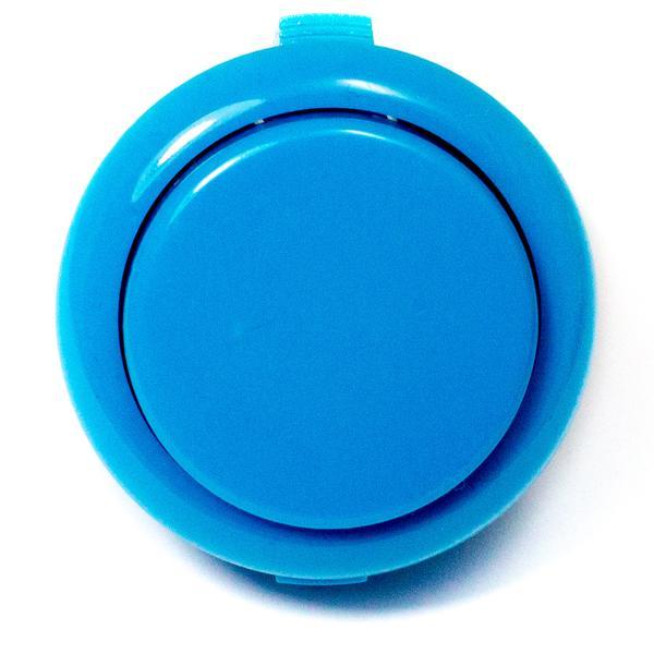 Színes kerek záró nyomógomb 33x20x2mm kék SW PUSH ARCADE Blue