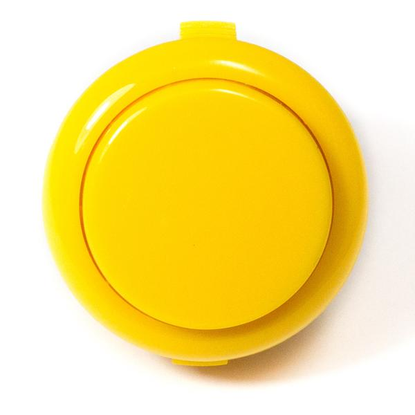 Színes kerek záró nyomógomb 33x20x2mm sárga SW PUSH ARCADE Yellow