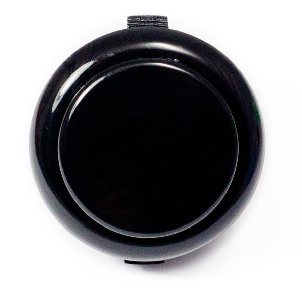 Színes kerek záró nyomógomb 33x20x2mm fekete SW PUSH ARCADE Black