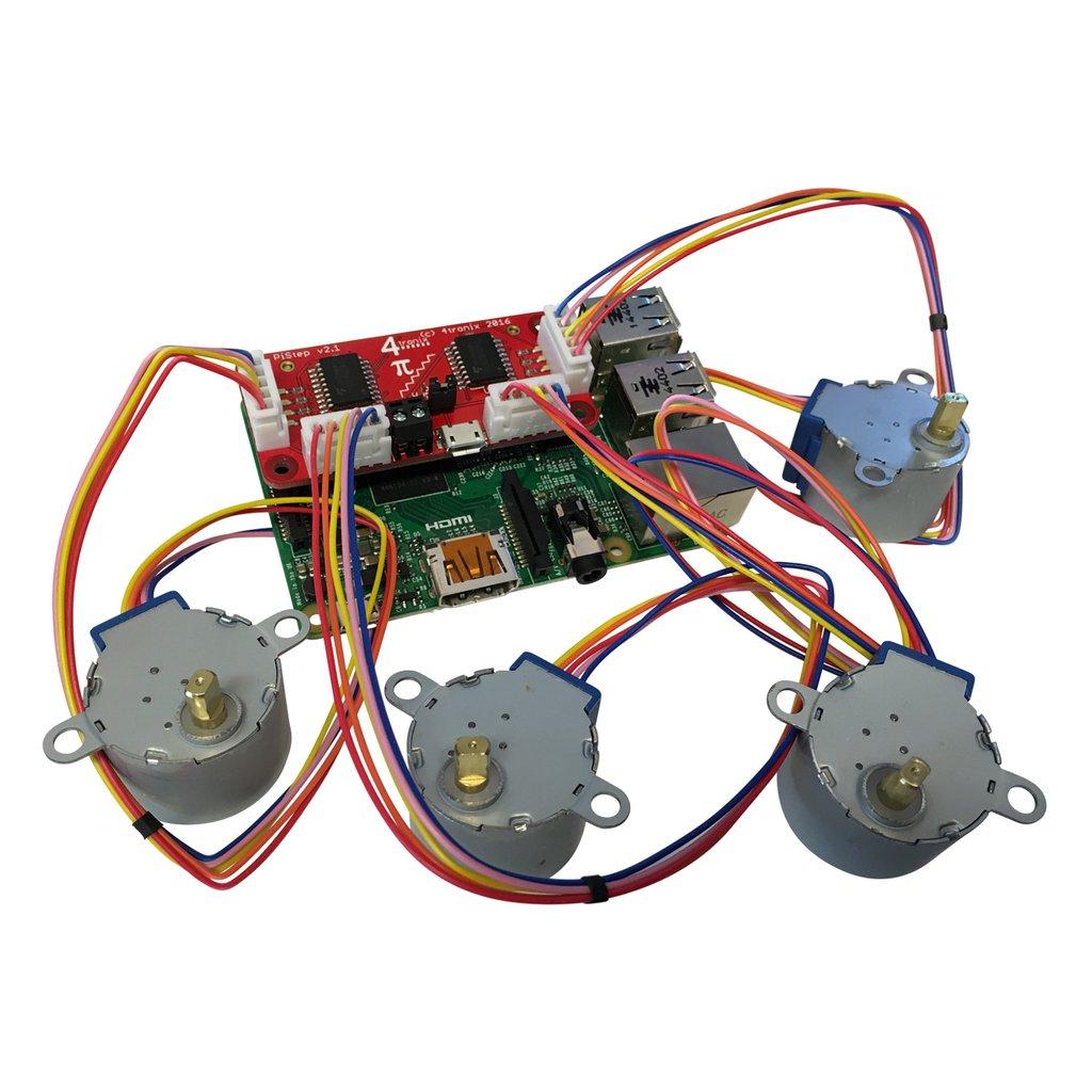 Raspberry Pi négy stepper motor vezérlő modul KIT Pistep2 -