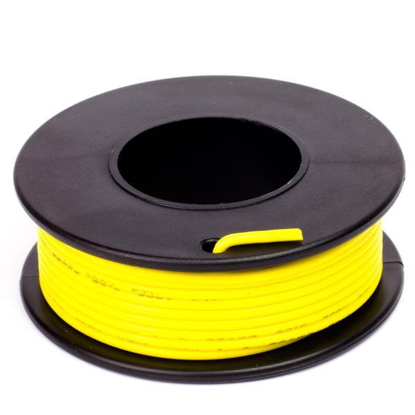 Sárga szigetelésű egy eres előónozott forrasztható vezeték 0.35x7.5m CABLE ROLL YELLOW